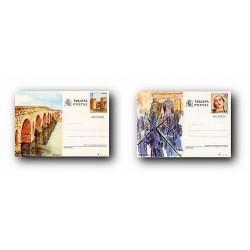1984 España. Entero Postales Turismo (Edif.137/138)**