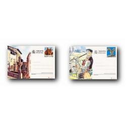 1991 España. Entero Postales Turismo (Edif.151/152)**