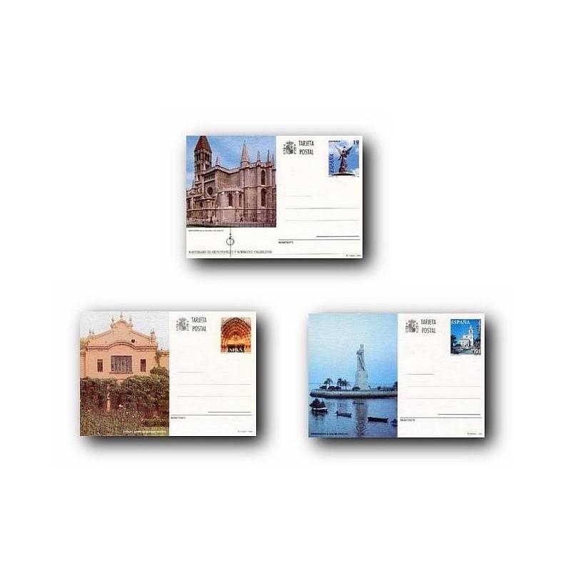 1996 España. Entero Postales Turismo (Edif.160/162)**