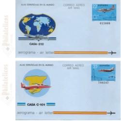 1983 España. Aerogramas (Edif.205/206)**