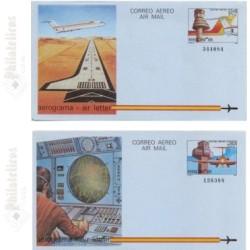 1984 España. Aerogramas (Edif.207/208)**