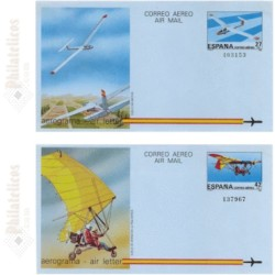 1985 España. Aerogramas (Edif.209/210)**