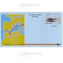 1989 España. Aerograma (Edif.214)**