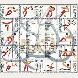 1995 Sellos de España (3364/77). Deportes. Olímpicos de Plata.
