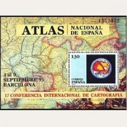 1995 Sellos de España (3388). Conferencia Internacional de Cartografía.