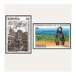 1995 Sellos de España (3390/91). Patrimonio Mundial de la Humanidad.