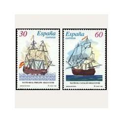 1996 España. Barcos de Época (Edif.3415/16SH) **