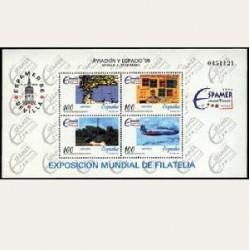 1996 Sellos de España (3433). Aviación y Espacio.