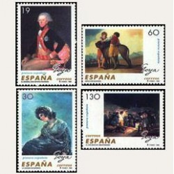1996 Sellos de España (3437/40). Pintura Española - Goya.