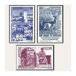 1996 Sellos de España (3453/55). Partrimonio Mundial de la Humanidad.