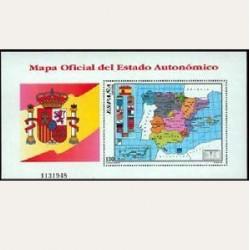 1996 Sellos de España (3460). Mapa del Estado Autonómico.
