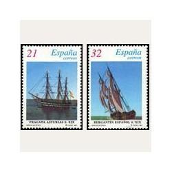 1997 Sellos de España (3477SH/78SH). Barcos de Época.