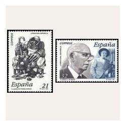1997 Sellos de España (3483/84). Literatura Española.