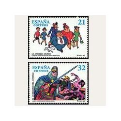 1997 Sellos de España (3486/87). Cómics - Personajes del Tebeo.