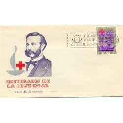 1963 SPD España. Centenario de la Cruz Roja. Edif.1534