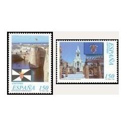1998 Sellos de España (3534/35). Estatutos de Autonomía. Ceuta y Melilla