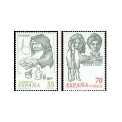 1998 España. Literatura Española - Personajes (Edif.3538/9)**