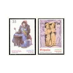 1998 Sellos de España (3596/97). Navidad