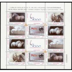 1999 España. Exp. Mund. de Filatelia - Caballos. Minipliego (Edif.MP-67)**