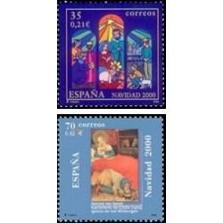 2000. España. Navidad (Edif.3769/70)**
