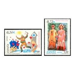 2001 España. Fiestas Populares (Edif.3806/7)**