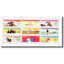 2002 España. Juegos Ecuestres Mundiales. Minipliego (Edif.MP-78)**