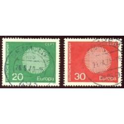 1970 Alemania. Europa CEPT. Ø