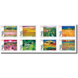 2003 Sellos de España. Paisajes (carnet adhesivo). (Edifil 3969/76)**