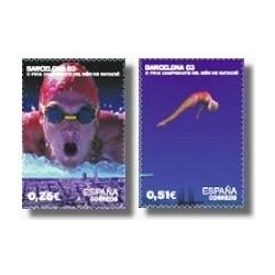 Sellos de España 2003. Camp. del Mundo de Natación. (Edifil 3989/90)**