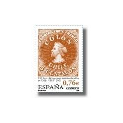 Sellos de España 2003. Primera Emisión de Sellos de Chile. (Edifil 3997)**