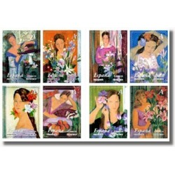 Sellos de España 2003. La Mujer y las Flores. (Edifil 4003/10)**