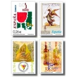 Sellos de España 2003. Vinos con denominación de Origen. (Edifil 4015/18)**