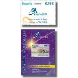 Sellos de España 2003. Exp. Mund. Filatelia España 2004. (Edifil 4033/34)**