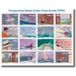 Sellos de España 2004. Correspo. Epistolar Escolar. Minipliego (Edifil MP-8