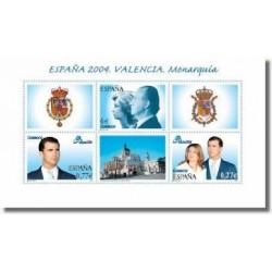Sellos de España 2004. Exp. Mundial Filatelia - Valencia '04. Monarquía (Ed