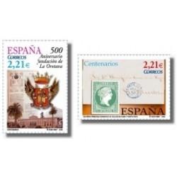Sellos de España 2005. Centenarios (Edif. 4190/91)**