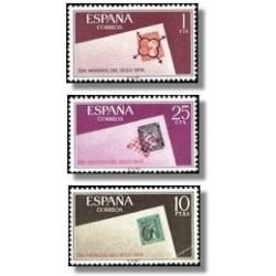 1966 España. Día Mundial del Sello. (Edif.1723/25) **