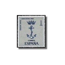 1966 España. Semana Naval en Barcelona. (Edif.1737) **