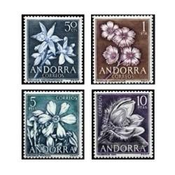1966 Sellos de Andorra (correo español). Flores (Edif. 68/71)**