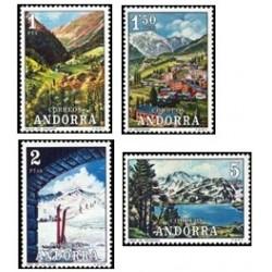 1972 Sellos de Andorra (correo español). Paisajes (Edif. 73/76)**