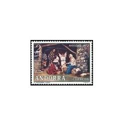 1972 Sellos de Andorra (correo español). Navidad (Edif. 79)**