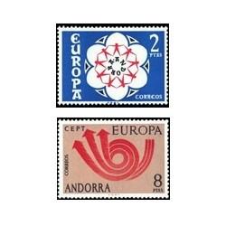 1973 Sellos de Andorra (correo español). Europa (Edif. 85/86)**