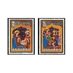1973 Sellos de Andorra (correo español). Navidad (Edif. 87/88)**