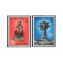 1974 Sellos de Andorra (correo español). Europa (Edif. 89/90)**