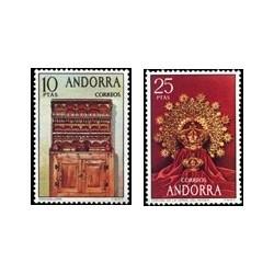 1974 Sellos de Andorra (correo español). Artesanía (Edif. 91/92)**