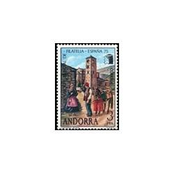 1975 Sellos de Andorra (correo español). Exposición Mundial España '75 (Edi