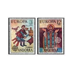 1975 Sellos de Andorra (correo español). Europa (Edif. 97/98)**