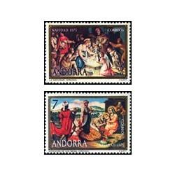 1975 Sellos de Andorra (correo español). Navidad (Edif. 100/1)**