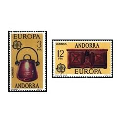 1976 Sellos de Andorra (correo español). Europa (Edif. 102/3)**