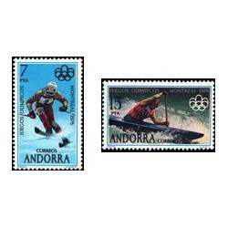 1976 Sellos de Andorra (correo español). Juegos Olímpicos de Montreal (Edif